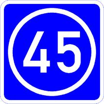 Knoten 45 blau