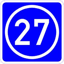 Knoten 27 blau