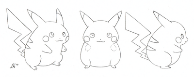 Pikachu model sheet by deviantmel-d31fq5h