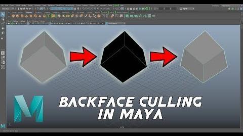 Backface Culling in Maya (2018)