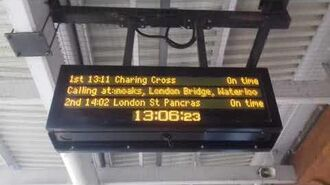 Accapella Rachel Announces the 13-11 SE service London Charing Cross