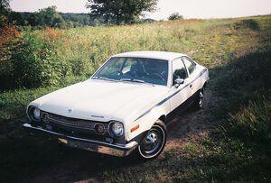 800px-1973 AMC American Motors hornet 258 2 door hatchback fastback Beast