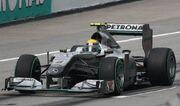 Rosberg Malaysian GP start 2010 (cropped)