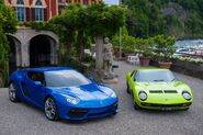 Lamborghini Asterion alongside Lamborghini Miura