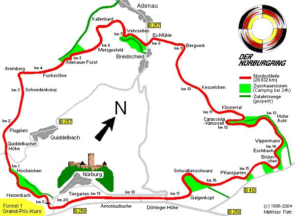 Nordschleife image of Nurburgring track