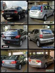 Six full flex-fuel Brazilian automobiles 09 2008