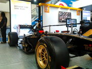 Lotus-Renault F1 car in display at the Express Avenue Mall