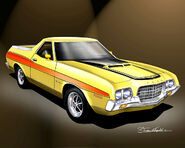 Yellow Ford Ranchero (ill.)