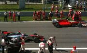 Italian GP starting grid (Alonso and Button)