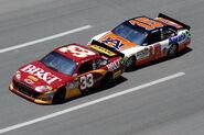 2011TalladegaApr NSCS Race Clint Bowyer and Michael Waltrip