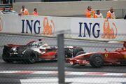 Hamilton + Raikkonen 2008 Belgium