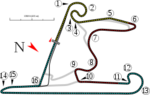 Shanghai International Racing Circuit track map