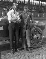 Racer Jimmy Murphy with 'mechanician' Eddie Olson