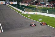 Hamilton + Raikkonen 2008 Belgium 2