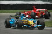 Alonso + Schumacher 2006 USA