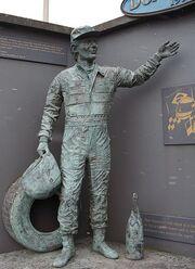 Ayrton Senna Statue - Donington Park