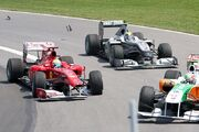 Massa Liuzzi 1st Lap Incident 2010 Canada