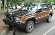1993 Jeep Grand Wagoneer Black Cherry front