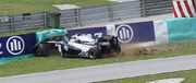 Pastor Maldonado's crash 2011 Malaysia FP2 1