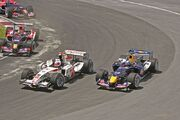 Barrichello and Klien overtake Canada 2006