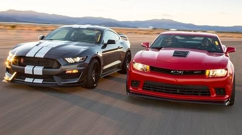 2016 Ford Mustang Shelby GT350R vs. 2015 Chevrolet Camaro Z 28 - Head 2 Head Ep. 71