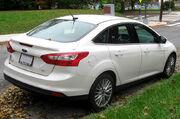 2012 Ford Focus SEL sedan -- 10-12-2011 rear