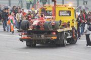 Kimi Raikkonen 2008 Belgium crash