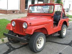 Jeep CJ-5 V6 red open body