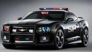 Camaro 2010 black police car wallpaper - 852x480