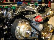 Colorized car engine