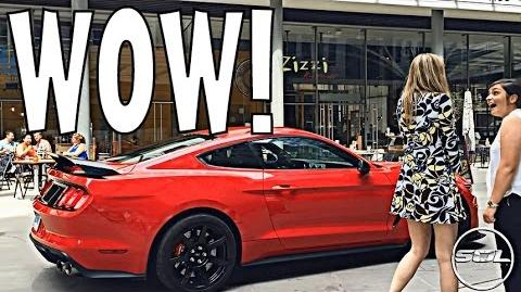 2015 SHELBY GT350R SCARES WOMEN!!