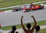 Lewis Hamilton and Fernando Alonso 2011 Malaysia 2