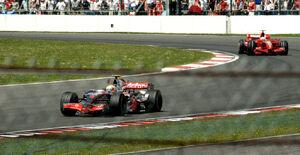 Hamilton leading Silverstone 2007