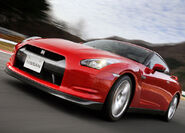Nissan-GT-R 2008 red