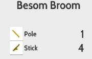 Besom Broom Recipe