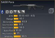 SA58 Para statistics
