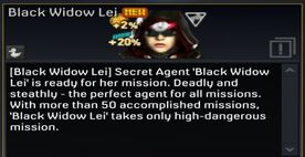 Black Widow Lei description
