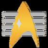 Commodore Rank Comm Badge