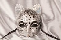 Silver Cat's Mask