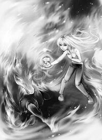 Kara gives Starfire the Blue Rose