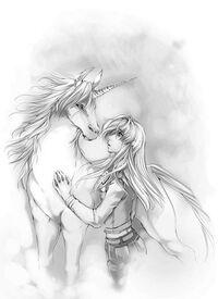 Kara meets the unicorn