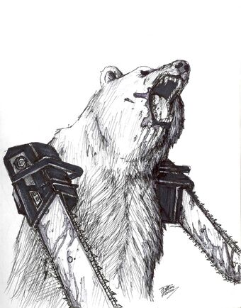 Bearwithchainsaws