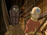Aang parle avec Bumi