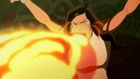 Korra crache du feu