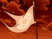 Drapeau Lotus Blanc