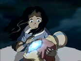 Katara soignant Aang