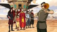 La Team Avatar tienne un spectacle de Maîtrise de l'Air