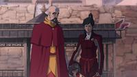 Tenzin et Korra frustrée