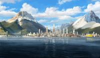 La ligne d'horizon de la Cité de la République