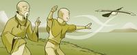 Aang et Gyatso font du cerf-volant